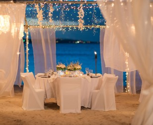 Summer wedding on the sand